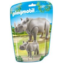 Playmobil 6638 Rinoceronte Com Filhote (lançamento)