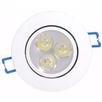 Lampadas Spot Aluminio Led 3w Branco Frio