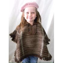 Pala Artesanal Feito Em Lã De Ovelha Poncho Rodeio Infantil