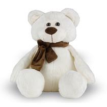 Urso De Pelúcia 30 Cm - Ted Com Laço Bege