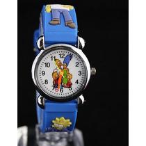 Relógio Simpsons Azul Infantil Criança Pulseira 3d
