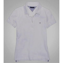 Camisa Tommy Polo Femininas Branca Tm M Importada..