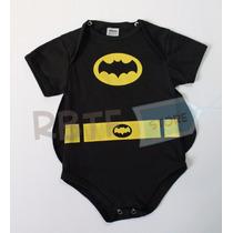 Body Fantasia Bebê Batman Com Capa