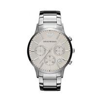 Relógio Empório Armani Ar2458 Prata Com Branco 100% Original
