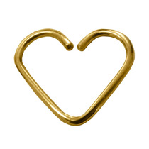 Piercing De Ouro 18k Coração De Orelha Daith + Caixinha