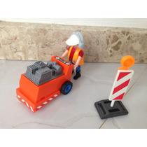 Playmobil - 4044 - Operário Com Equip. De Corte De Asfalto