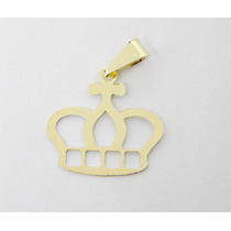 Pingente Coroa Banhando A Ouro 18k. Semijoia