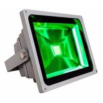 Refletor 10w Luminária Jardim Spot Luz Cor Verde Super Led