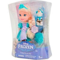 Boneca Frozen Disney Princesa Elsa + Olaf + Presilha Sunny
