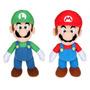 Kit 2 Bonecos Super Mario Bros E Luigi 25cm - Super Show !