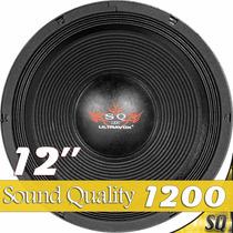 Woofer 12 Ultravox Sound Quality 1200 Rms Sq1212 8 Ohms Som