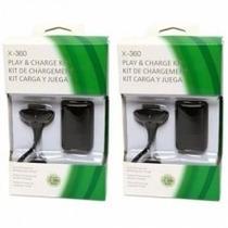 Kit 2 Baterias Carregador Controle Xbox 360 Slim