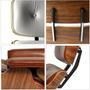 Conjunto Charles Eames - Couro Natural - Acabamento Premium
