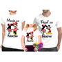 Kit Com 3 Peças Camisa Personalizada Mickey E Minnie A4