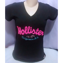 Kit C/10 Camisetas T-shirts Femininas Hollister R$ 199,00