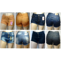 Shorts Hot Pants Disco Pant Cintura Alta Jeans E Coloridos!