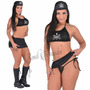 Fantasia Policial Elite Conjunto Lingerie Sexy Sensual Femin