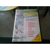 Antigo E Raro Software Educativo Original Do Commodore Amiga