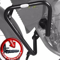 Protetor De Motor Carenagem Scam Preto - Xt 660 R Com Pedais