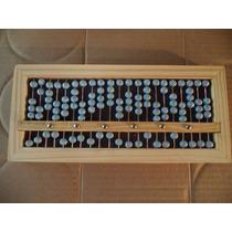 Abaco Soroban Portátil 10,8x23,5x2,0cm Madeira Metal Plastic