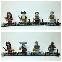 Lego Compatível - Kit 8 Bonecos - Piratas Do Caribe