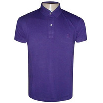 Camisa Ricardo Almeida Gola Polo Camiseta Roxa