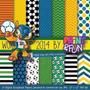 Pacote Com 6 Kits De Futebol Imagens Clipart Papeis