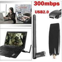 Adaptador Roteador Wireless Usb Wifi 300mbps + Antena B/g/n