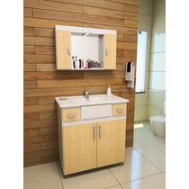 Gabinete / Armário Banheiro Ferrara Luxo
