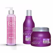 T9 Bb Cream + Shampoo + Máscara Cabelo Loiro ! Forever Liss