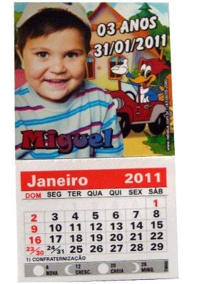 50 Minicalendários Com Ima 05 X 05 Lembrança