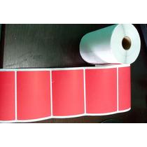 Etiqueta Adesiva 100mmx74mm - Vermelha