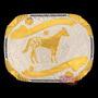 Fivela Cavalo Appaloosa Com Banho Dourado E Prata - Sumetal