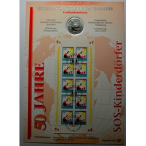Folha Numismática Alemanha Comemorativa 10 Marcos De 1999