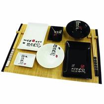 Kit De Comida Japonesa Para 2 Pessoas - 32x28x6,5 Cm