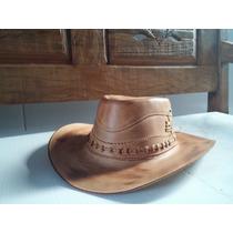 Chapéu Couro Legitimo Australiano Cowboy Frete Grátis