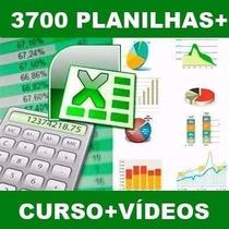Curso De Excel + 3700 Planilhas Editáveis + Vídeos ( Leia )