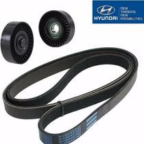Kit Correia Alternador Acessorios Hyundai Tucson 2.7 24v