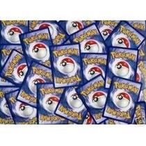 Lote Pokemon Com 100 Cards Comuns Mais 1 Card Raro Brinde