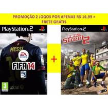 Fifa 14 + Fifa Street 2 Para Playstation 2 (kit 2 Jogos Ps2