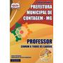 Apostila Professor Todos Cargos - Prefeitura Contagem Mg