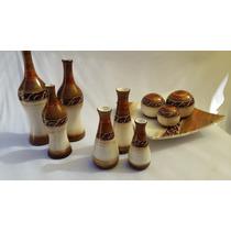 Conjunto Cerâmica 3 Kit Decorativa Vasos Decoração Lustre