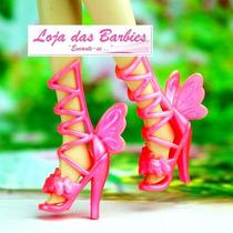 Sapato De Luxo Para Boneca Barbie * Filme Segredo Das Fadas