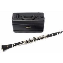 Clarinete Clarineta Custom 17 Chaves Si Bemol Com Estojo