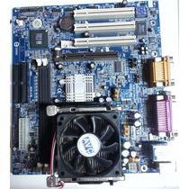 Kit Placa Mãe Gigabyte 8s651mp-rz + Celeron D 2,26 Ghz 100%
