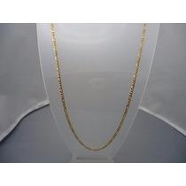 Cordão Ouro Masculino 18k-750 Maciça 60cm Mais Barato