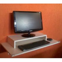 Mesa De Parede -90c X 41l + Suporte P/ Monitor/computador.