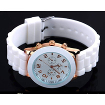 Relógio De Pulso Feminino Geneva Pulseiras De Silicone