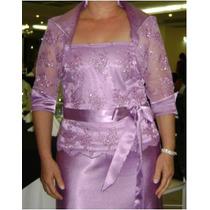 Vestido De Madrinha/mãe Da Noiva (blusa,saia,bolero E Faixa)