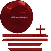 Kit Capa Estepe + Friso Ecosport 13 14 15 Vermelho Merlot